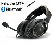BOSE A20 Aviation Headset, U/174 (Helicopter), gerades Kabel, Bluetooth