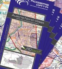 5er Set VFR Luftfahrtkarte Österreich 2018