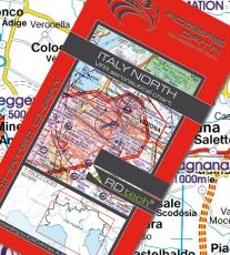 VFR Luftfahrtkarte Italien Nord / Italy North 2019 (laminiert)