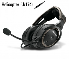 BOSE A20 Aviation Headset, U/174 (Helicopter), gerades Kabel