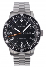 Fortis Official Cosmonauts Day/Date mit Metallband 647.10.11