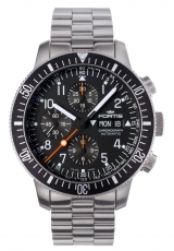 Fortis Official Cosmonauts Chronograph mit Metallband 638.10.11