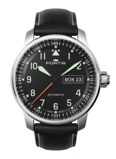 Fortis Flieger Professional Day/Date mit Lederband 704.21.11 L.01