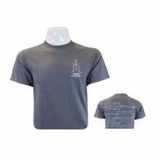 R66 T-Shirt Charcoal Schematic