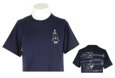 R22 T-Shirt Navy Schematic