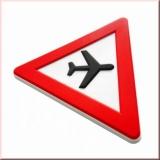 ACHTUNG-Flugzeuge-Magnet