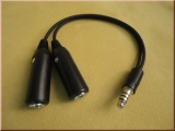 Headset Adapter General Aviation to Helicopter PA-76