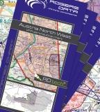 5er Set VFR Luftfahrtkarte Österreich 2019 (laminiert)