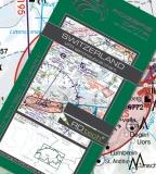 VFR Luftfahrtkarte Schweiz / Switzerland 2017