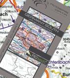 VFR Luftfahrtkarte Deutschland Süd - Germany South 2017