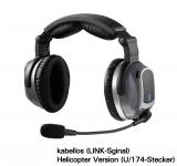 Lightspeed Zulu Tango ANR Headset - kabellos - U/174-Stecker (Helikopter)