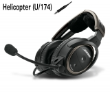 BOSE A20 Aviation Headset, U/174 (Helicopter), gerades Kabel