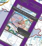 VFR Luftfahrtkarte Frankreich Südwest / France Southwest 2017