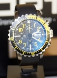 Fortis Marinemaster Yellow Chronograph mit Lederband Performance 671.24.14 LP