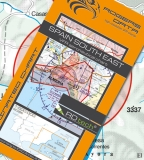 VFR Luftfahrtkarte Spanien Süd Ost / Spain South East 2018