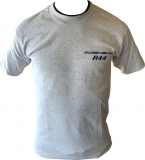 R44 T-Shirt Grey Navy Astro Design