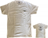 R44 T-Shirt White Navy with Breast Pocket