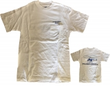 R44 T-Shirt White Blue with Breast Pocket