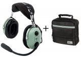 Headset D.C. H10-13.4 General Aviation, PJ-Stecker, gerades Kabel (für Fläche) und Tasche