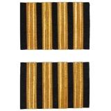 Schulterstreifen Kapitän Premium - vier Streifen, goldfarben, extra lang