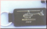 Robinson R44 Lederschlüsselanhänger