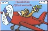 Glückwunschkarte Roter Flieger
